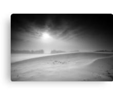 Cold Ridge BW Canvas Print