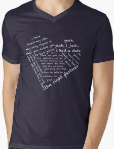 Quotes of the Heart - Steggy (Black) Mens V-Neck T-Shirt