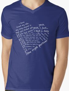 Quotes of the Heart - Steggy (Black) Mens V-Neck T-Shirt
