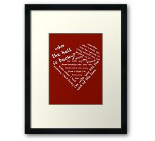 Quotes of the Heart - Stucky (White) Framed Print