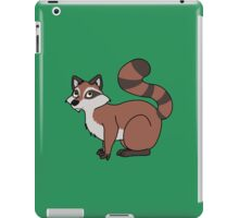 Red Raccoon with Striped Tail iPad Case/Skin