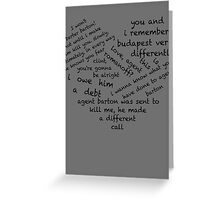 Quotes of the Heart - Clintasha (Black) Greeting Card