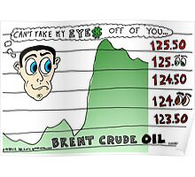 Brent Crude Oil Binary Options News Editorial Cartoon Poster