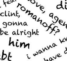 Quotes of the Heart - Clintasha (Black) Sticker