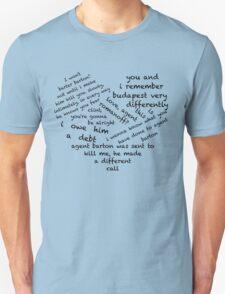 Quotes of the Heart - Clintasha (Black) Unisex T-Shirt