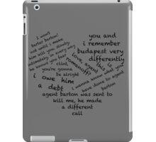 Quotes of the Heart - Clintasha (Black) iPad Case/Skin