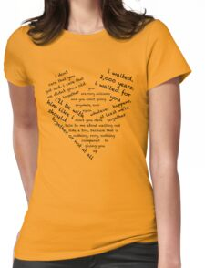 Quotes of the Heart - Amy/Rory (Black) Womens Fitted T-Shirt