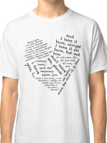 Quotes of the Heart - Janto (Black) Classic T-Shirt