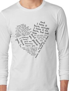 Quotes of the Heart - Janto (Black) Long Sleeve T-Shirt