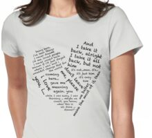 Quotes of the Heart - Janto (Black) Womens Fitted T-Shirt