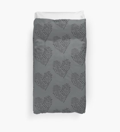 Quotes of the Heart - Janto (Black) Duvet Cover