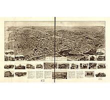 Panoramic Maps Aero view of Freeport Long Island NY 1909 Photographic Print