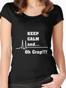 Funny Cardiac Nurse or Nurse Asystole Design Women's Fitted Scoop T-Shirt