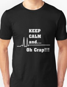Funny Cardiac Nurse or Nurse Asystole Design Unisex T-Shirt
