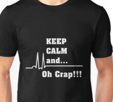 Funny Cardiac Nurse or Nurse Asystole Design Unisex T-Shirt