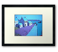Little Harbour Acrylic Painting Framed Print