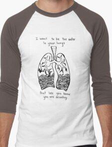 Sorority Noise Blissth Lyrics Men's Baseball ¾ T-Shirt