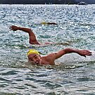 Balmoral Ocean Swim - The Home Stretch by Ian English