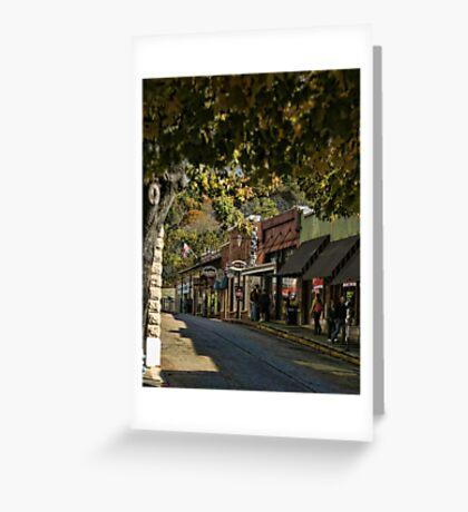 Eureka Springs Street Scene Greeting Card