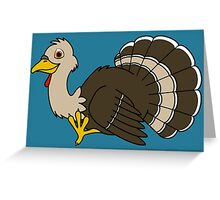 Thanksgiving Turkey with Light Brown Feathers Greeting Card