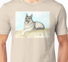 German Shepherd Dog Animal Art Peek Pets Unisex T-Shirt