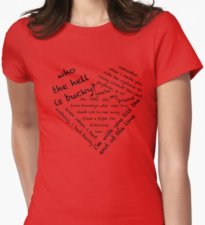 Quotes of the Heart - Stucky (Black) Womens Fitted T-Shirt