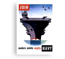 Join Navy -- Modern Mobile Mighty Canvas Print