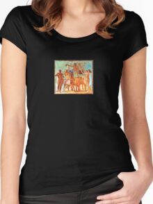 Pompeii Fresco Women's Fitted Scoop T-Shirt