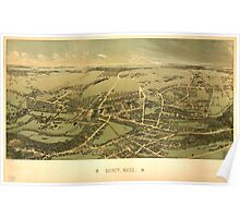 Panoramic Maps Quincy Mass Poster