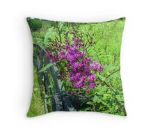 Along The Fence Line Throw Pillow
