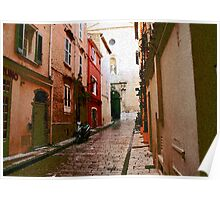 Tiny alleys of St Tropez Poster