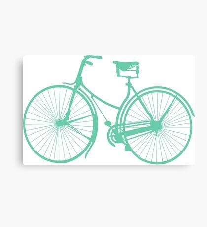 Teal bike Canvas Print
