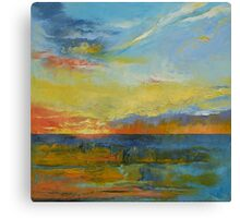 Turquoise Blue Sunset Canvas Print