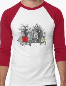 100 Acre Dash Men's Baseball ¾ T-Shirt