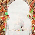 Sheikh Zayed Grand Mosque,  collage by sylvianik