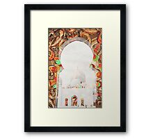 Sheikh Zayed Grand Mosque,  collage Framed Print