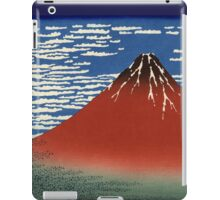 Japanese Print:  Red Fuji on a Clear Day iPad Case/Skin
