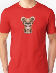 Cute Baby Lion Cub Wearing Glasses  Unisex T-Shirt