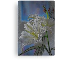 White Lily in Pastels Canvas Print