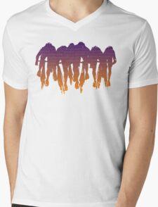 sprint line Mens V-Neck T-Shirt