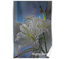 Easter White Lily Poster