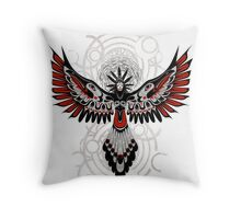 Divine Crow Woman Throw Pillow