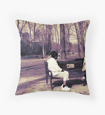 Thermal enhanced candid Throw Pillow