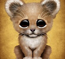 Cute Baby Lion Cub  by Jeff Bartels