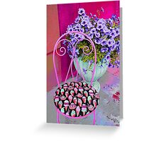 Ice Cream Cafe Chair Greeting Card