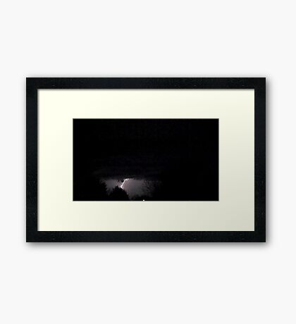 Storm On Approach 2 Framed Print