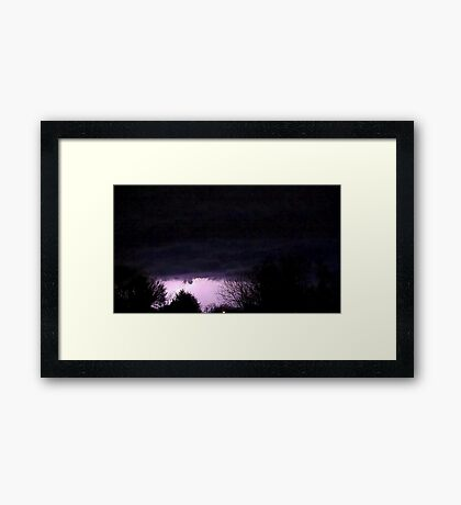 Storm On Approach 7 Framed Print