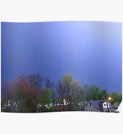 Lightning Shows Spring Colors Poster