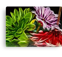 Red, Purple and Green Canvas Print
