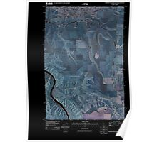 USGS Topo Map Indiana ID Lewiston Orchards South 20110429 TM Inverted Poster